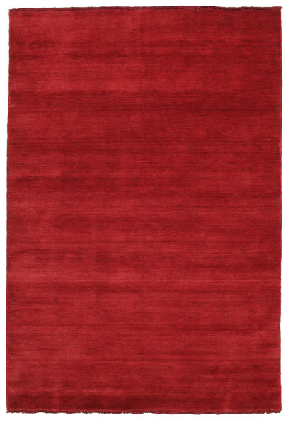 Handloom fringes - Dark Red rug CVD5257