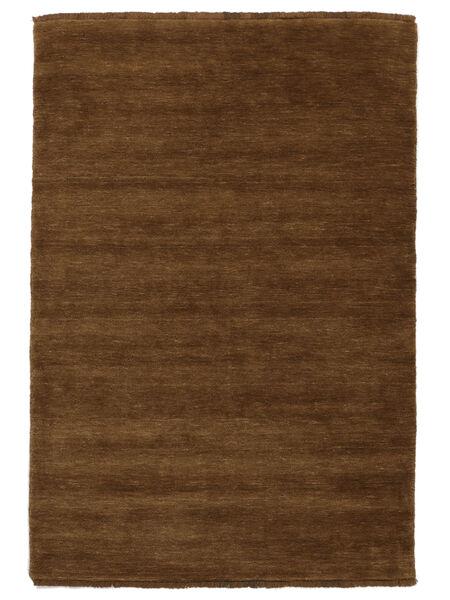 Tapis Handloom fringes - Marron CVD5220