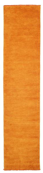 ハンドルーム Fringes - オレンジ 絨毯 80X350 モダン 廊下 カーペット オレンジ/薄茶色 (ウール, インド)