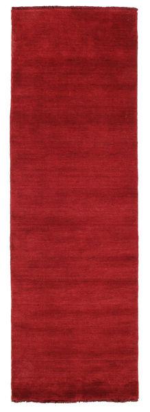 Handloom fringes - Dark Red rug CVD5256