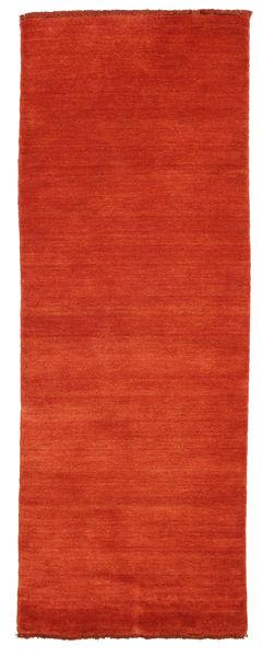 Handloom Fringes - Rozsdaszín/Piros Szőnyeg 80X200 Modern Rozsdaszín (Gyapjú, India)