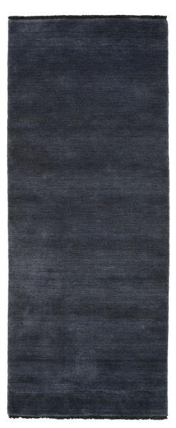 Handloom fringes - Mørk blå teppe CVD5465