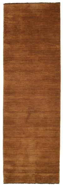 Handloom Fringes - Brun Tæppe 80X250 Moderne Tæppeløber Brun/Mørkebrun (Uld, Indien)