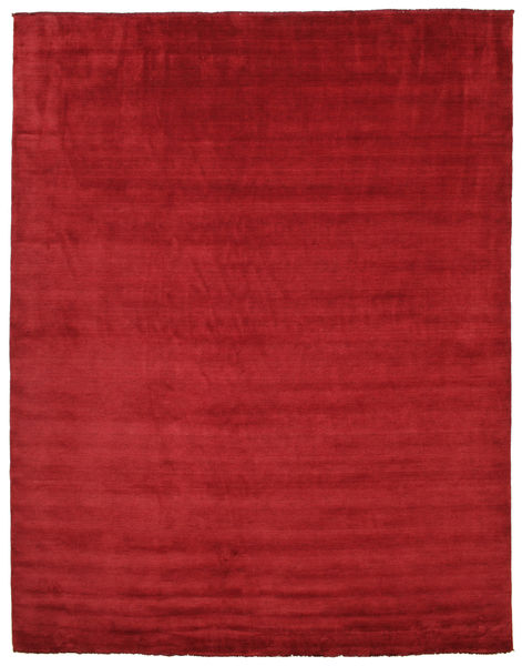 Handloom fringes - Tummanpunainen-matto CVD5245