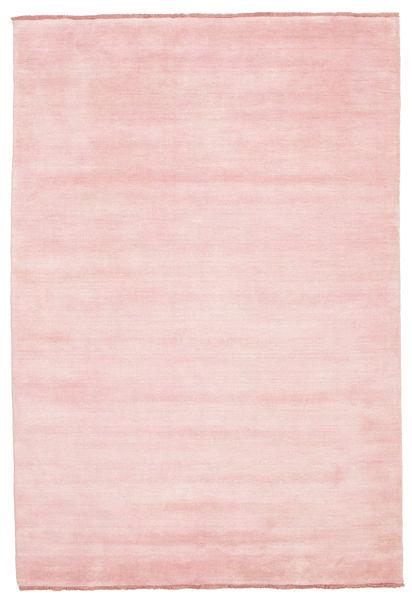 ハンドルーム Fringes - ピンク 絨毯 160X230 モダン ライトピンク (ウール, インド)
