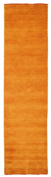 Handloom Fringes - Oransje Teppe 80X300 Moderne Teppeløpere Orange (Ull, India)