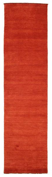 Handloom Fringes - Rust/Rød Teppe 80X300 Moderne Teppeløpere Rust (Ull, India)