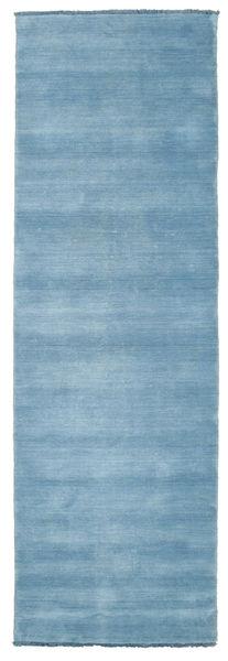 Handloom Fringes - Světle Modrý Koberec 80X250 Moderní Běhoun Světle Modrý (Vlna, Indie)