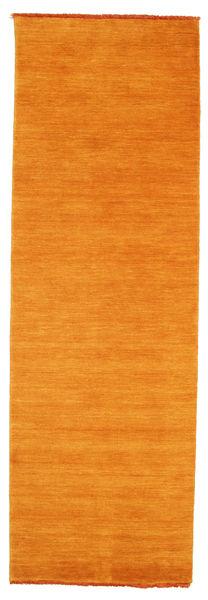 Handloom Fringes - Orange Tapis 80X250 Moderne Tapis Couloir Orange (Laine, Inde)