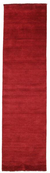 Handloom Fringes - Sötétpiros Szőnyeg 80X300 Modern Piros (Gyapjú, India)