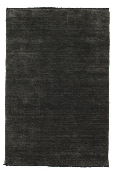 Handloom Fringes - Black/Grey Rug 120X180 Modern Black (Wool, India)