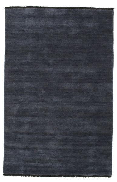 Handloom fringes - Dark Blue carpet CVD5455