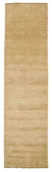 Handloom Fringes - Beige Rug 80X300 Modern Hallway Runner  Light Brown (Wool, India)