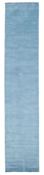 Handloom fringes - Light Blue rug CVD5436