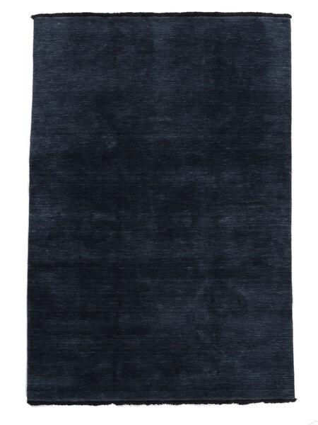 Handloom fringes - Mørk blå teppe CVD5454