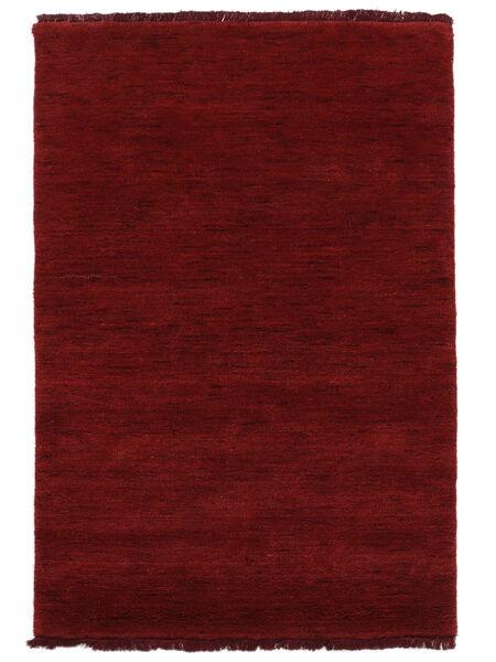 Handloom fringes - Mørk rød teppe CVD5259