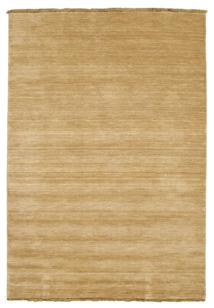 Handloom Fringes - Beige Rug 140X200 Modern Dark Beige/Light Brown (Wool, India)