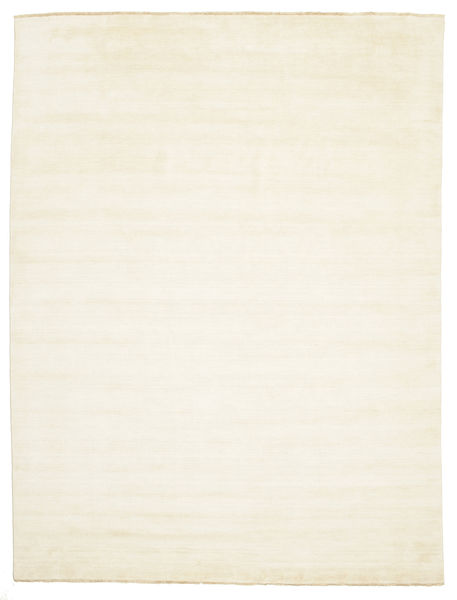 Handloom Fringes - Licht Vloerkleed 300X400 Modern Beige Groot (Wol, India)