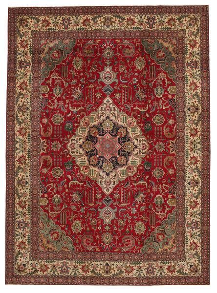 Tabriz Patina Teppe 304X417 Ekte Orientalsk Håndknyttet Mørk Rød/Mørk Brun Stort (Ull, Persia/Iran)
