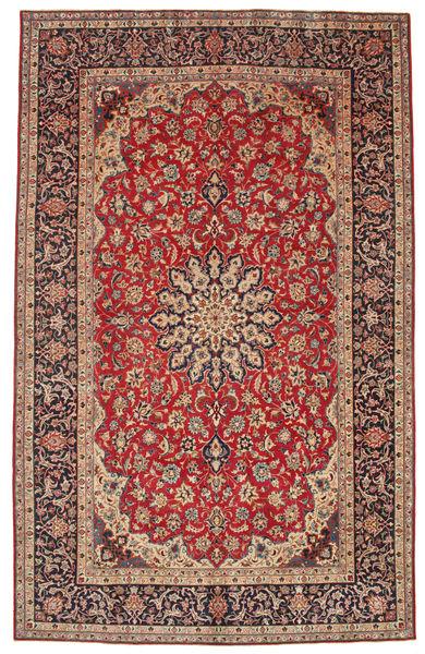 Najafabad Patina Koberec 227X360 Orientální Ručně Tkaný Tmavě Červená/Tmavě Hnědá (Vlna, Persie/Írán)