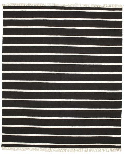 Dorri Stripe - Czarny/White Dywan 250X300 Nowoczesny Tkany Ręcznie Czarny/Beżowy Duży (Wełna, Indie)
