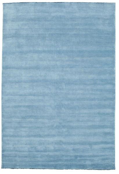 Handloom Fringes - Lichtblauw Vloerkleed 220X320 Modern Lichtblauw (Wol, India)