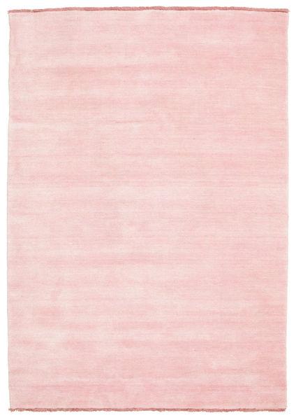 Handloom Fringes - Roze Vloerkleed 140X200 Modern Lichtroze/Beige (Wol, India)