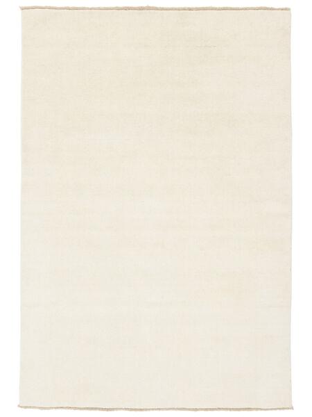 ハンドルーム Fringes - 薄い 絨毯 120X180 モダン ベージュ (ウール, インド)