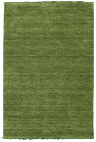 Handloom Fringes - Green Rug 120X180 Modern Olive Green (Wool, India)