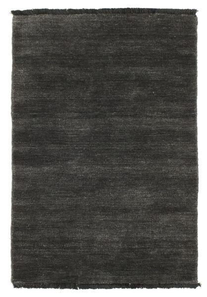 Handloom fringes - Black / Grey rug CVD5483