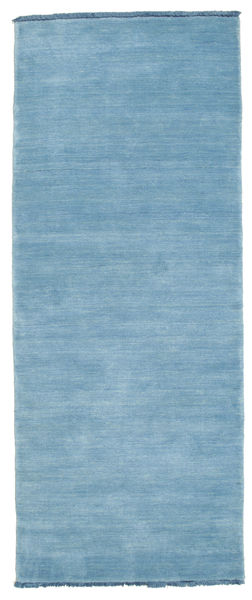 Handloom Fringes - Light Blue Rug 80X200 Modern Hallway Runner  Light Blue (Wool, India)