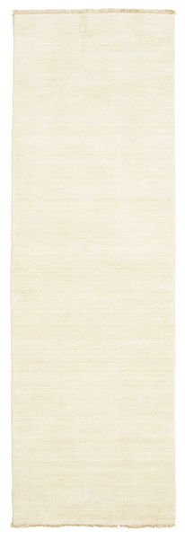 Handloom Fringes - Clair Tapis 80X250 Moderne Tapis Couloir Beige (Laine, Inde)