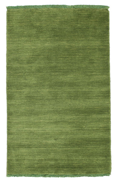 Handloom Fringes - Grøn Tæppe 80X120 Moderne Olivengrøn (Uld, Indien)