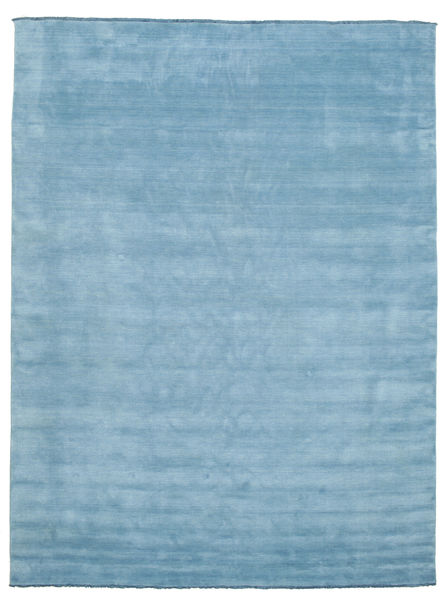 Handloom fringes - Light Blue rug CVD5418