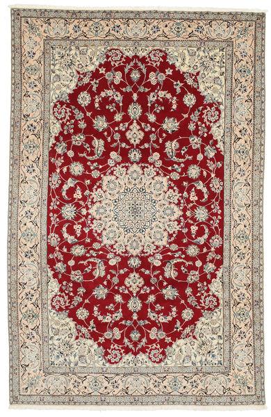 Nain 9La Alfombra 198X308 Oriental Hecha A Mano Marrón Claro/Rojo Oscuro (Lana/Seda, Persia/Irán)