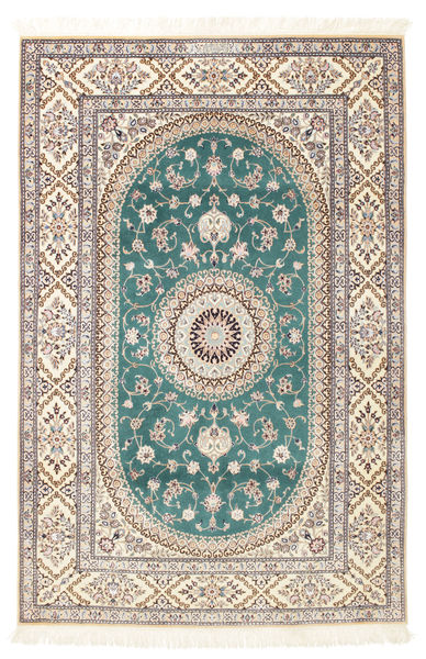 Nain 6La Habibian Rug 120X185 Authentic  Oriental Handknotted Light Grey/White/Creme (Wool/Silk, Persia/Iran)