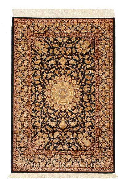 Ghom Soie Signé: Ghom Mohammadi Tapis 101X151 D'orient Fait Main Marron Clair/Rouge Foncé/Marron (Soie, Perse/Iran)