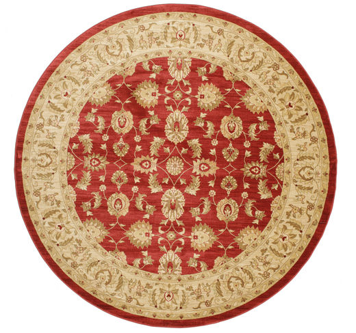 Ziegler Kaspin - Red Rug Ø 300 Oriental Round Rust Red/Light Brown/Dark Beige Large ( Turkey)