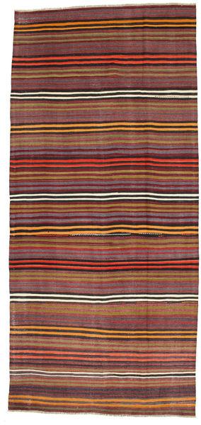 Kilim Semiantigua Turquía Alfombra 180X391 Oriental Tejida A Mano Rojo Oscuro/Marrón Oscuro (Lana, Turquía)
