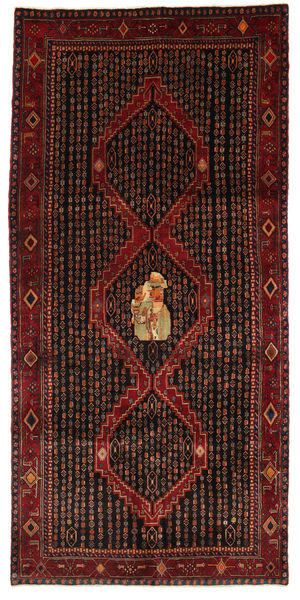 Kurdi Rug 147X310 Authentic  Oriental Handknotted Dark Red (Wool, Persia/Iran)