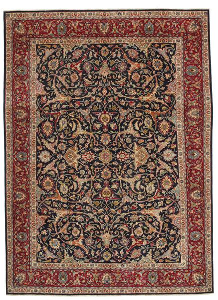 Hamadan Patina Matto 248X335 Itämainen Käsinsolmittu Vaaleanruskea/Tummanvihreä (Villa, Persia/Iran)