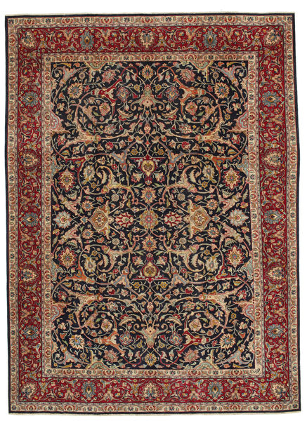 Hamadan Patina Rug 248X335 Authentic  Oriental Handknotted Light Brown/Dark Green (Wool, Persia/Iran)
