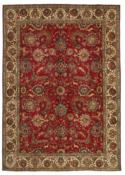 Tabriz Patina Signed: Hanifzadeh Rug 282X392 Authentic  Oriental Handknotted Dark Red/Dark Brown Large (Wool, Persia/Iran)