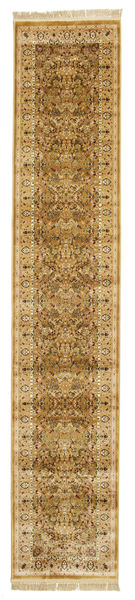 Kerman Diba - Brown Rug 80X400 Modern Hallway Runner  Light Brown/Brown ( Turkey)