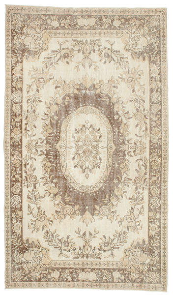 Colored Vintage Rug 170X292 Authentic  Modern Handknotted Light Grey/Beige (Wool, Turkey)