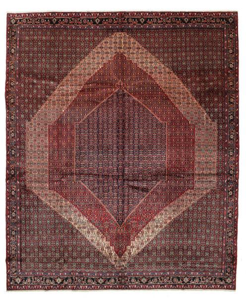 Senneh Matto 326X389 Itämainen Käsinsolmittu Tummanruskea/Tummanpunainen Isot (Villa, Persia/Iran)