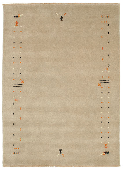 Gabbeh Loom Frame - Donkerbeige tapijt CVD5792
