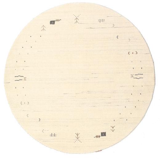 Gabbeh Loom Frame - Off White Szőnyeg Ø 150 Modern Kerek Bézs/Sárga (Gyapjú, India)