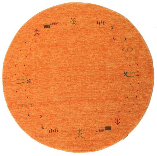 Gabbeh Loom Frame - Orange Rug Ø 150 Modern Round Orange (Wool, India)