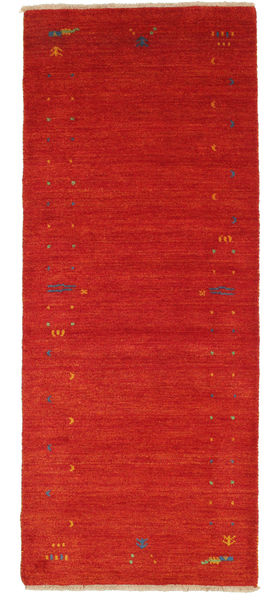 Gabbeh Loom Frame - Red Rug 80X200 Modern Hallway Runner  Rust Red (Wool, India)
